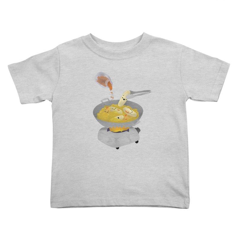 Cooking banana cue Kids Toddler T-Shirt by Filipeanut Sari-Sari Store