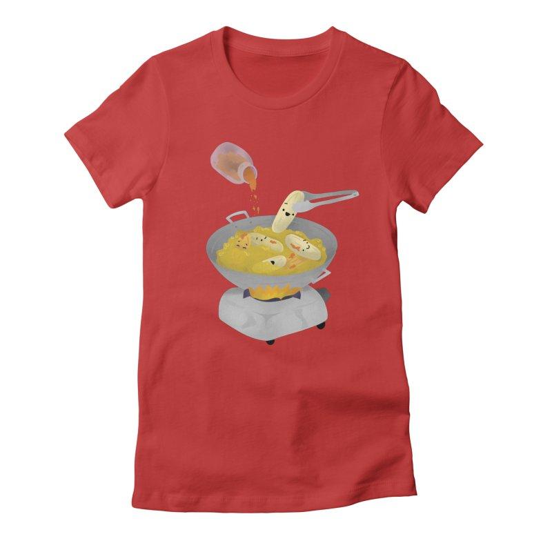 Cooking banana cue Women's T-Shirt by Filipeanut Sari-Sari Store