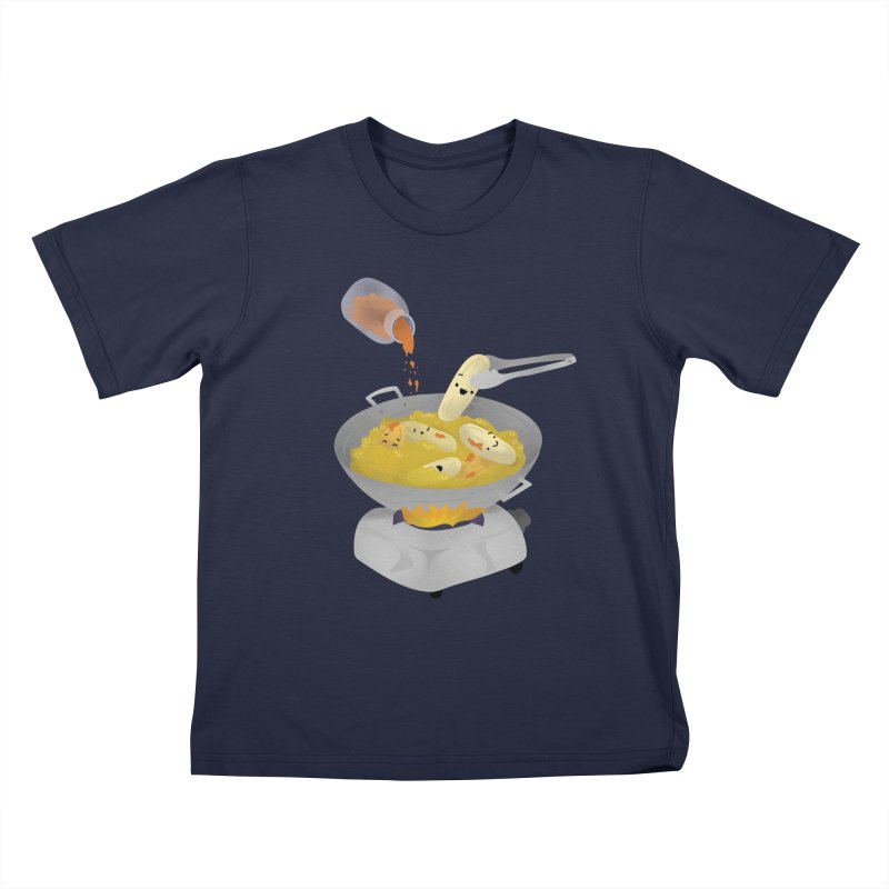 Cooking banana cue Kids T-Shirt by Filipeanut Sari-Sari Store