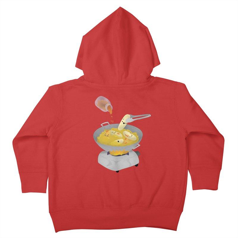 Cooking banana cue Kids Toddler Zip-Up Hoody by Filipeanut Sari-Sari Store