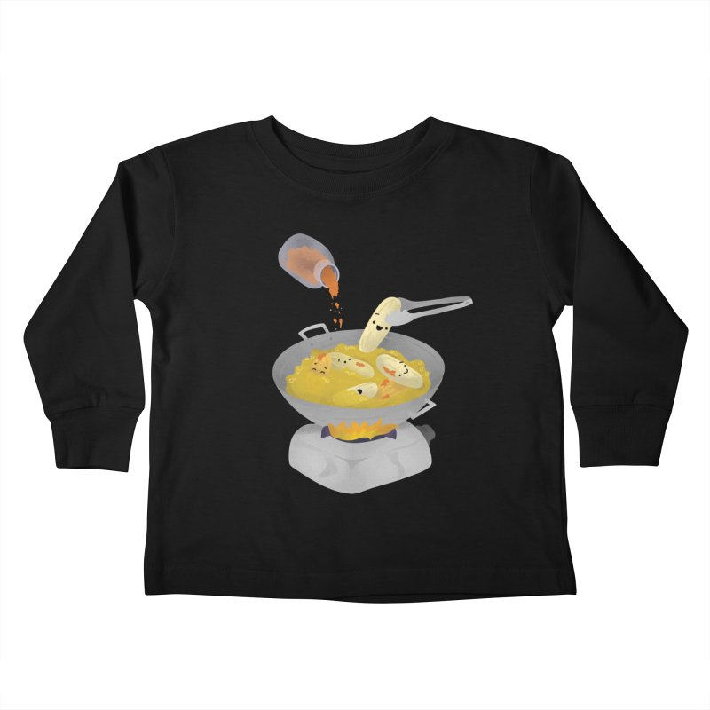 Cooking banana cue Kids Toddler Longsleeve T-Shirt by Filipeanut Sari-Sari Store