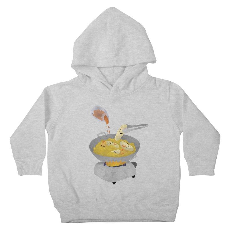 Cooking banana cue Kids Toddler Pullover Hoody by Filipeanut Sari-Sari Store