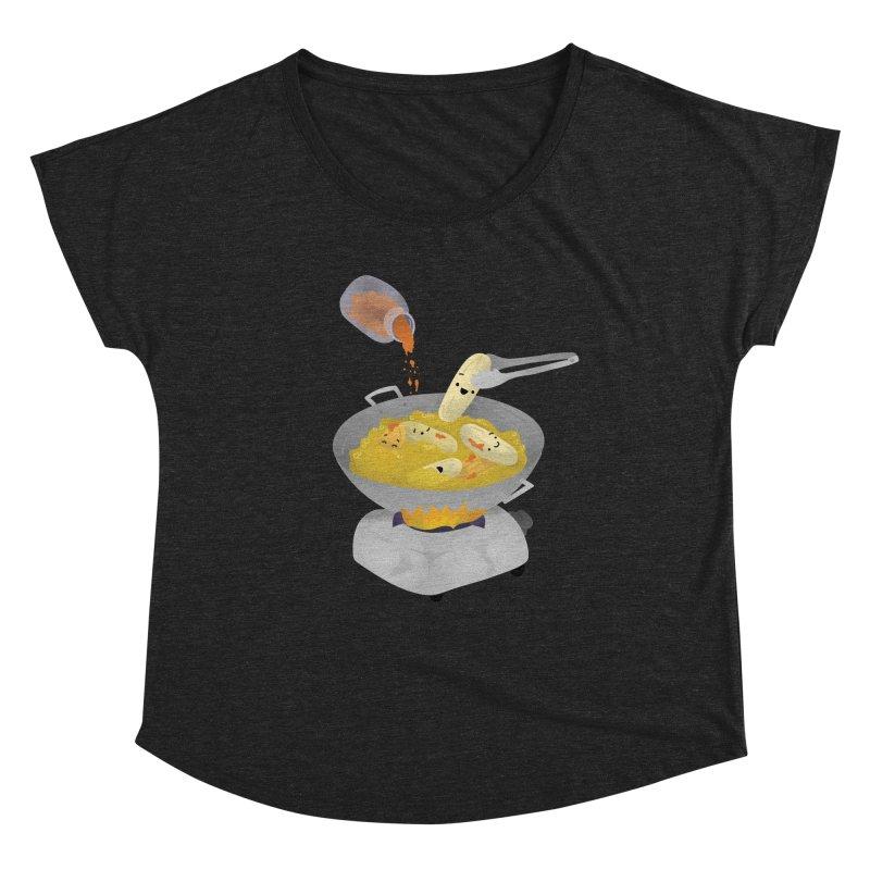 Cooking banana cue Women's Scoop Neck by Filipeanut Sari-Sari Store