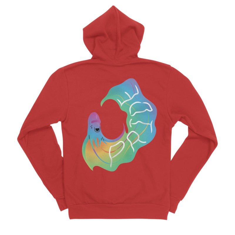 Rainbow Blanket Octopus Men's Zip-Up Hoody by Filipeanut Sari-Sari Store
