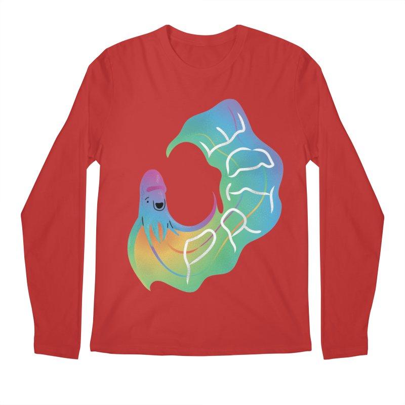 Rainbow Blanket Octopus Men's Longsleeve T-Shirt by Filipeanut Sari-Sari Store