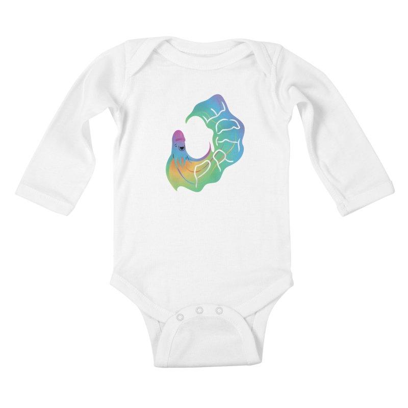 Rainbow Blanket Octopus Kids Baby Longsleeve Bodysuit by Filipeanut Sari-Sari Store
