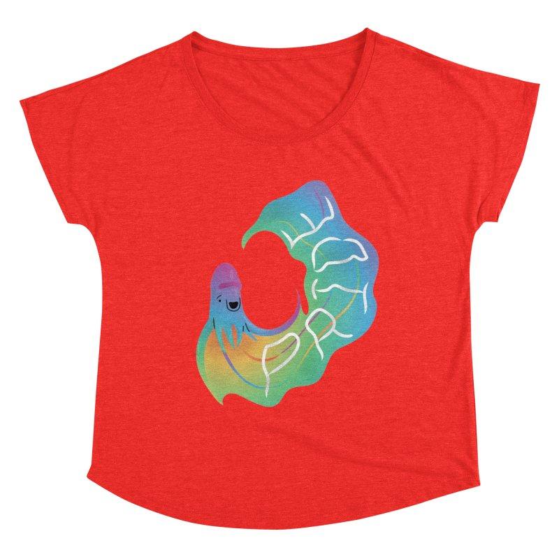 Rainbow Blanket Octopus Women's Scoop Neck by Filipeanut Sari-Sari Store