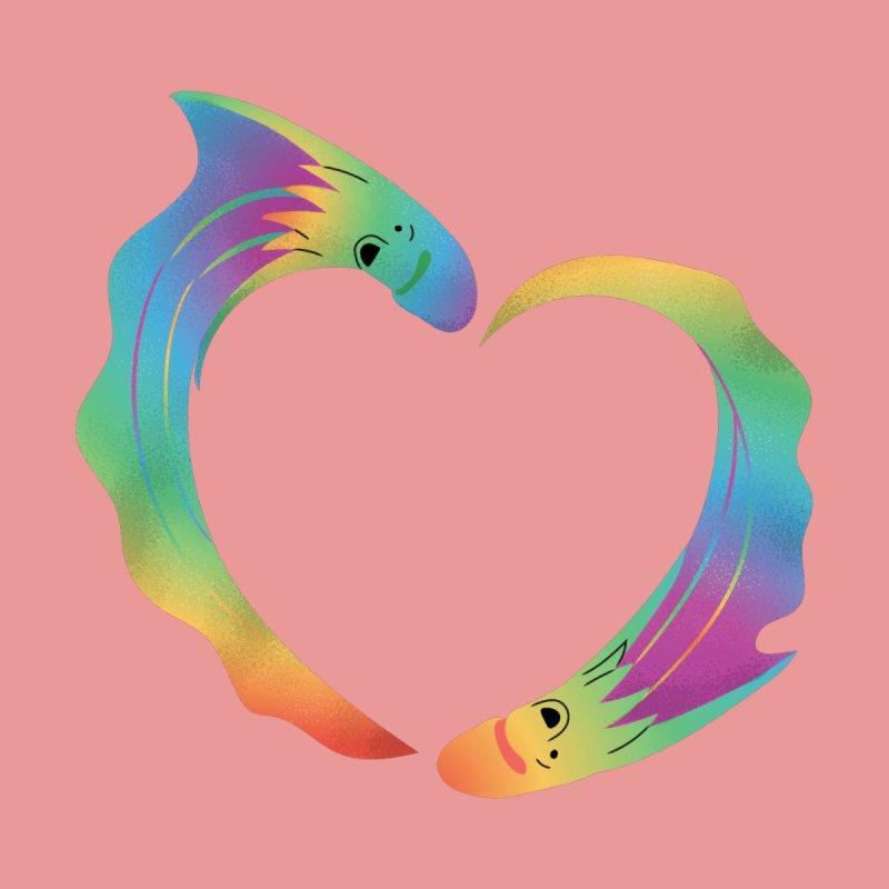 Rainbow Blanket Octopus Heart Kids T-Shirt by Filipeanut Sari-Sari Store