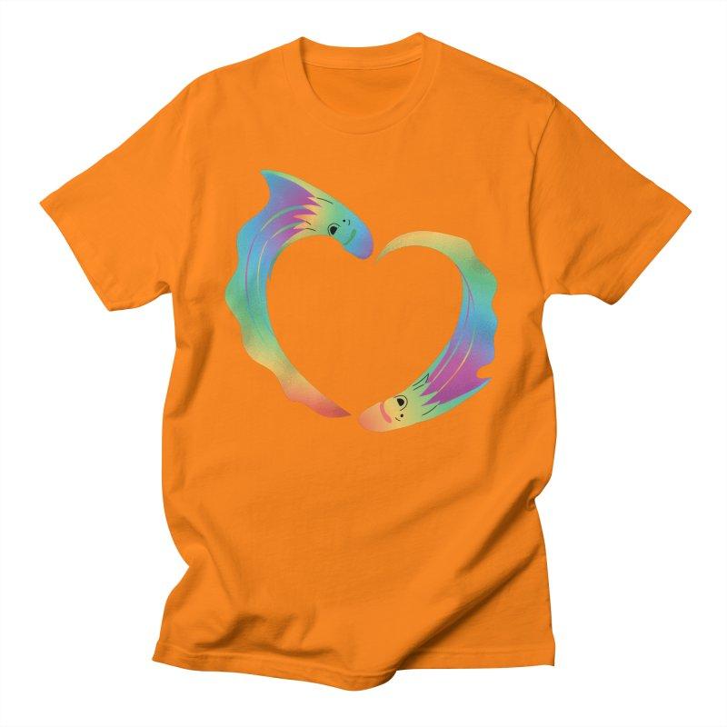 Rainbow Blanket Octopus Heart Men's T-Shirt by Filipeanut Sari-Sari Store