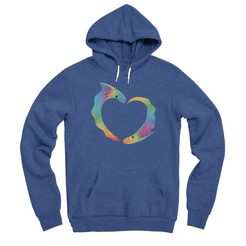 Rainbow Blanket Octopus Heart Women's Pullover Hoody by Filipeanut Sari-Sari Store