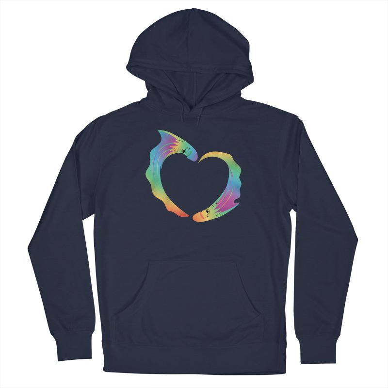 Rainbow Blanket Octopus Heart Men's Pullover Hoody by Filipeanut Sari-Sari Store