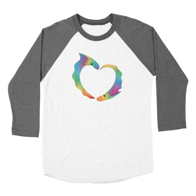 Rainbow Blanket Octopus Heart Women's Longsleeve T-Shirt by Filipeanut Sari-Sari Store