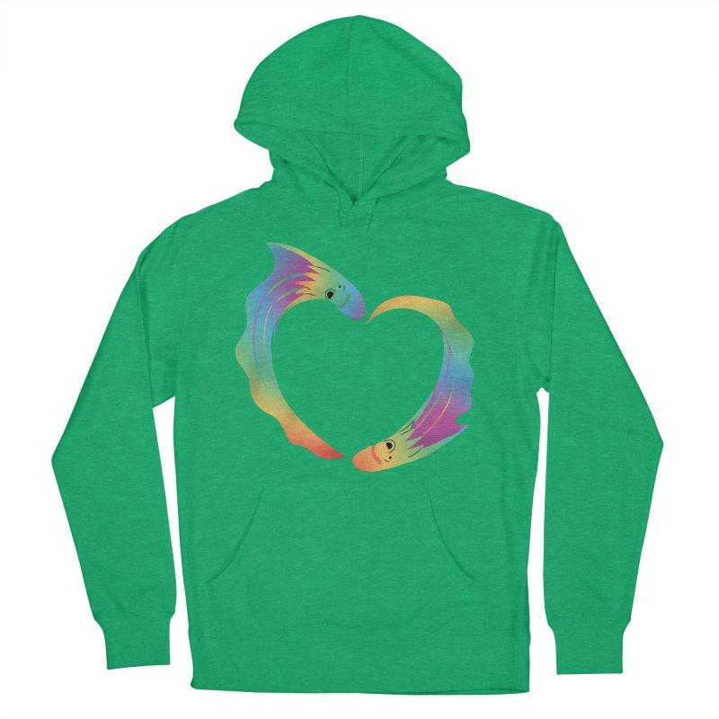 Rainbow Blanket Octopus Heart Women's French Terry Pullover Hoody by Filipeanut Sari-Sari Store
