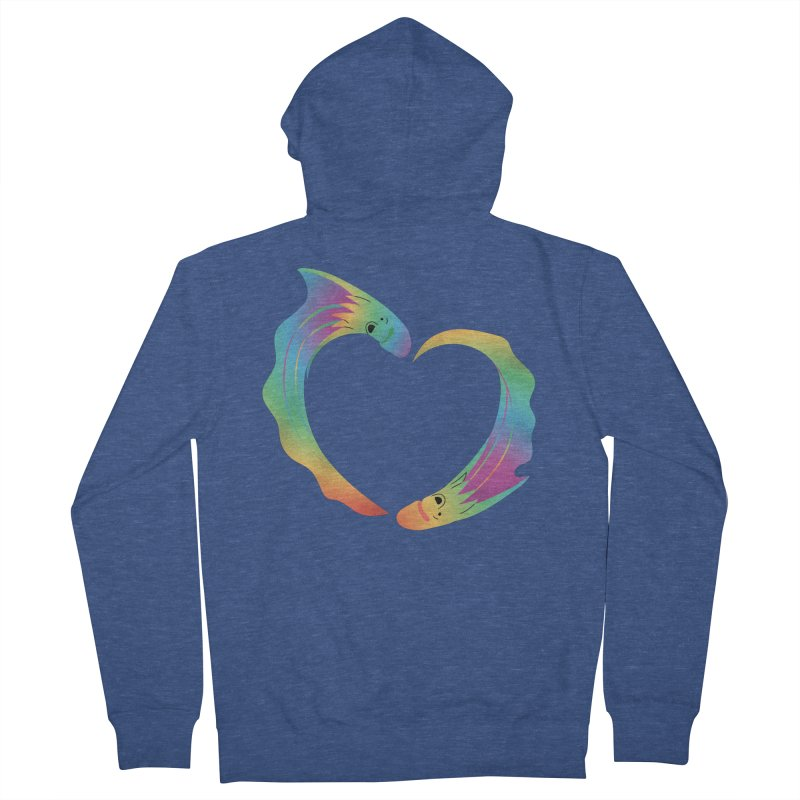 Rainbow Blanket Octopus Heart Women's French Terry Zip-Up Hoody by Filipeanut Sari-Sari Store