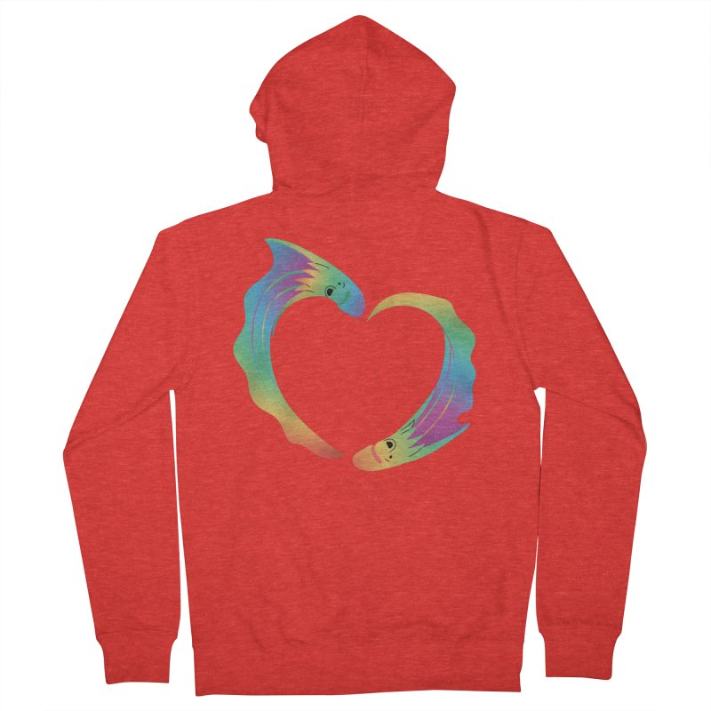 Rainbow Blanket Octopus Heart Men's Zip-Up Hoody by Filipeanut Sari-Sari Store