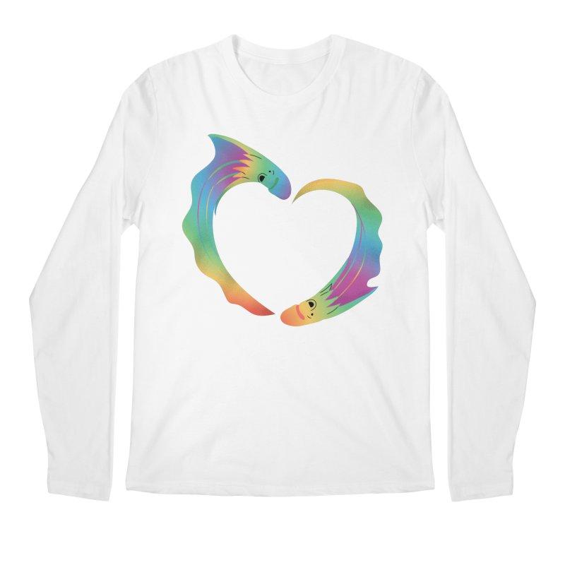 Rainbow Blanket Octopus Heart Men's Longsleeve T-Shirt by Filipeanut Sari-Sari Store