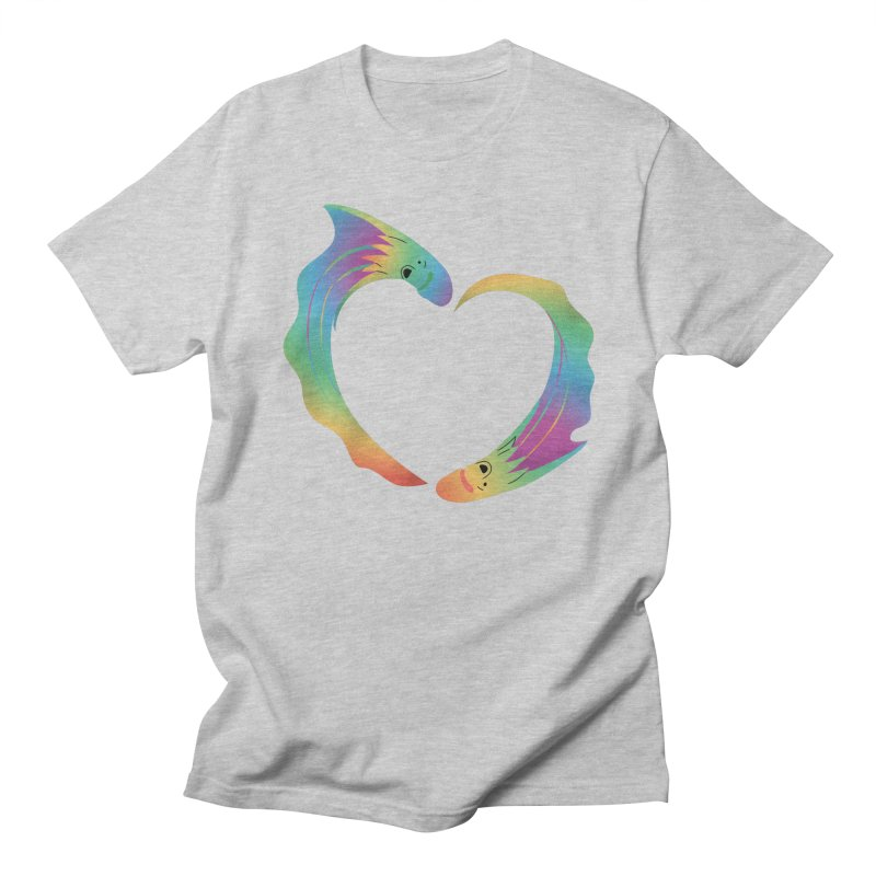 Rainbow Blanket Octopus Heart Men's T-Shirt by Filipeanut Sari-Sari Store