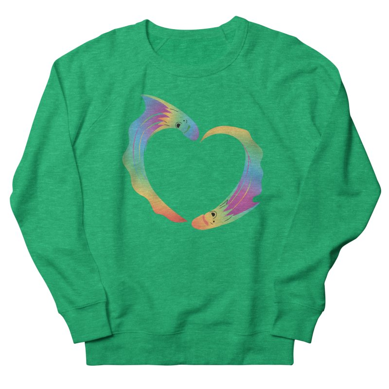 Rainbow Blanket Octopus Heart Women's Sweatshirt by Filipeanut Sari-Sari Store