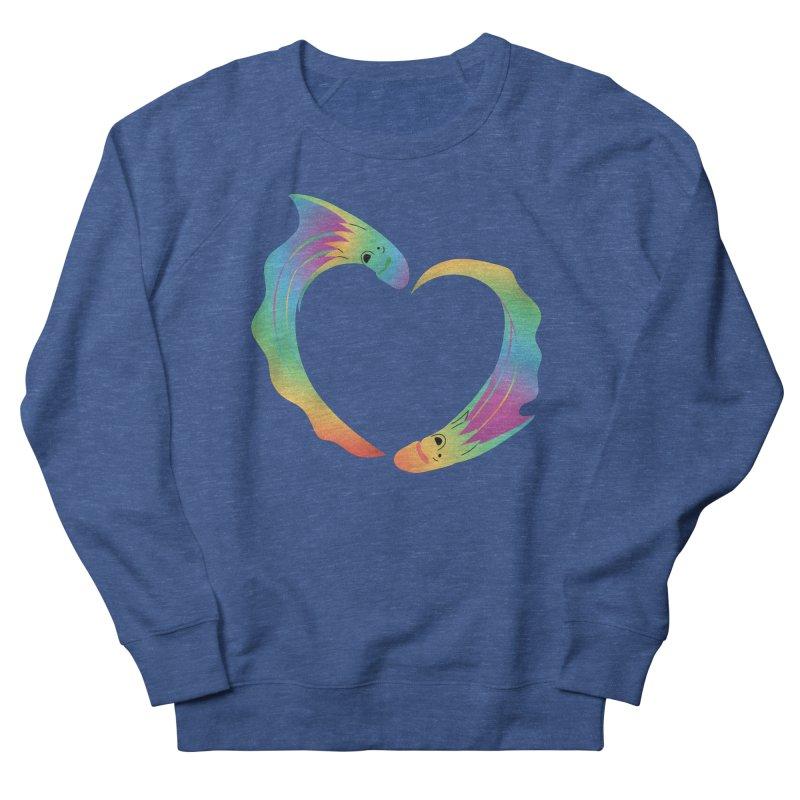 Rainbow Blanket Octopus Heart Women's French Terry Sweatshirt by Filipeanut Sari-Sari Store