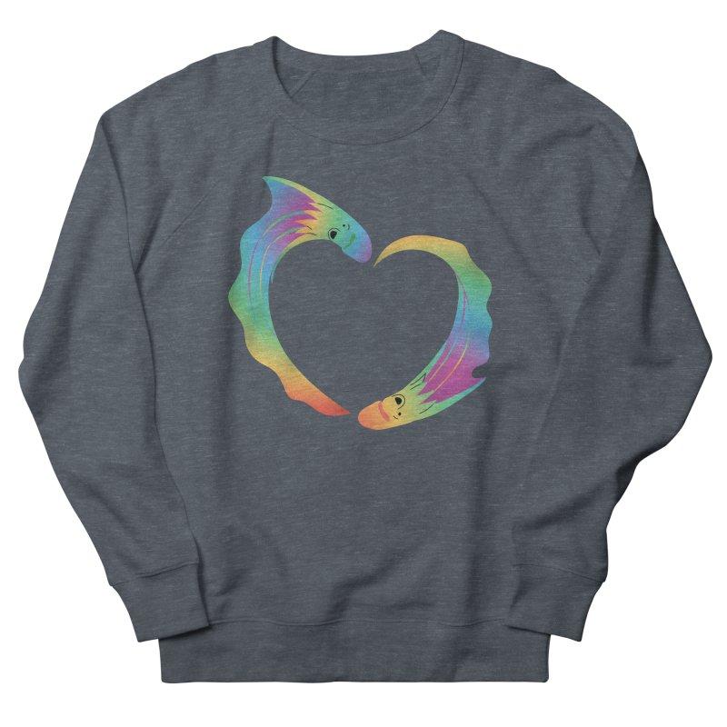 Rainbow Blanket Octopus Heart Women's Sweatshirt by Filipeanut Sari-Sari Store
