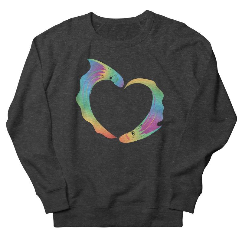 Rainbow Blanket Octopus Heart Men's French Terry Sweatshirt by Filipeanut Sari-Sari Store