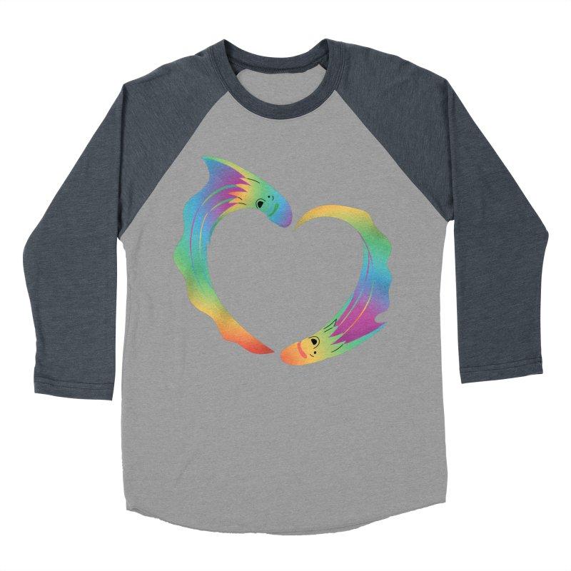 Rainbow Blanket Octopus Heart Women's Baseball Triblend Longsleeve T-Shirt by Filipeanut Sari-Sari Store