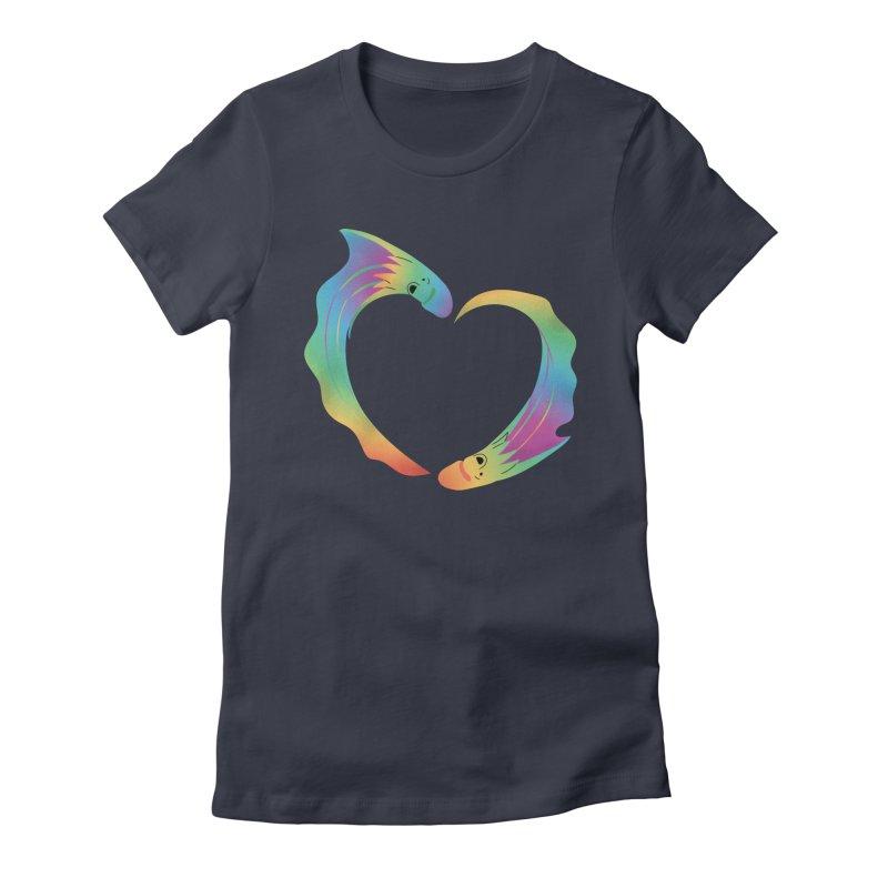 Rainbow Blanket Octopus Heart Women's T-Shirt by Filipeanut Sari-Sari Store