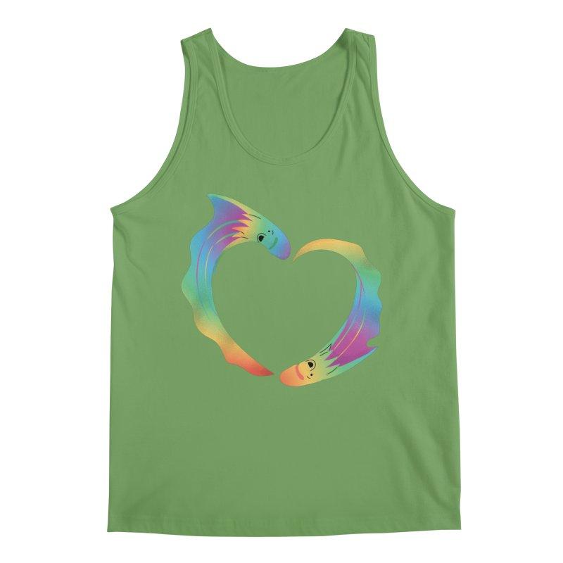 Rainbow Blanket Octopus Heart Men's Tank by Filipeanut Sari-Sari Store