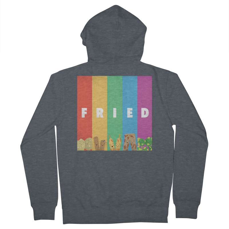 Fried Pride Women's French Terry Zip-Up Hoody by Filipeanut Sari-Sari Store