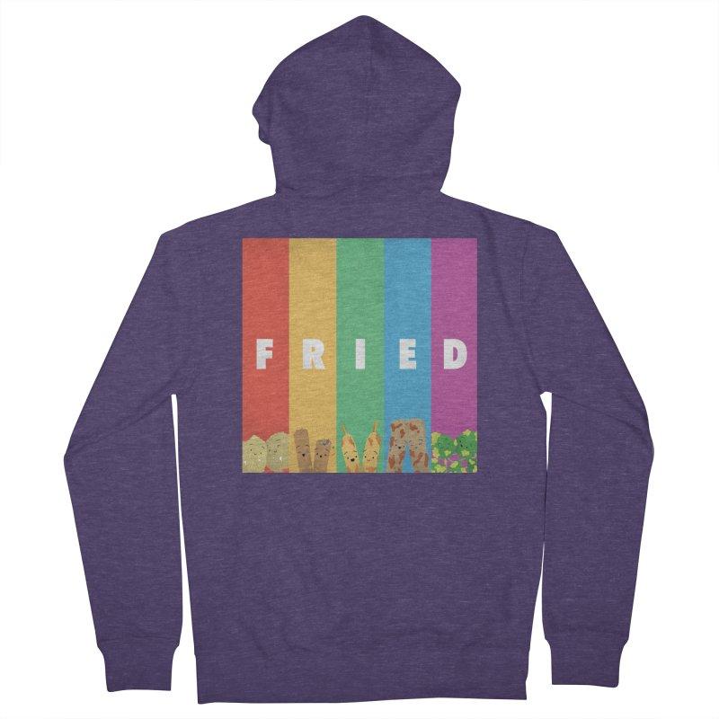 Fried Pride Men's French Terry Zip-Up Hoody by Filipeanut Sari-Sari Store