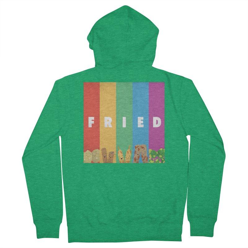 Fried Pride Men's Zip-Up Hoody by Filipeanut Sari-Sari Store