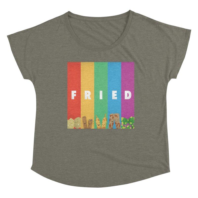 Fried Pride Women's Dolman Scoop Neck by Filipeanut Sari-Sari Store