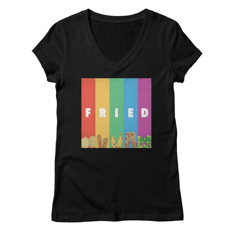 Fried Pride Women's V-Neck by Filipeanut Sari-Sari Store