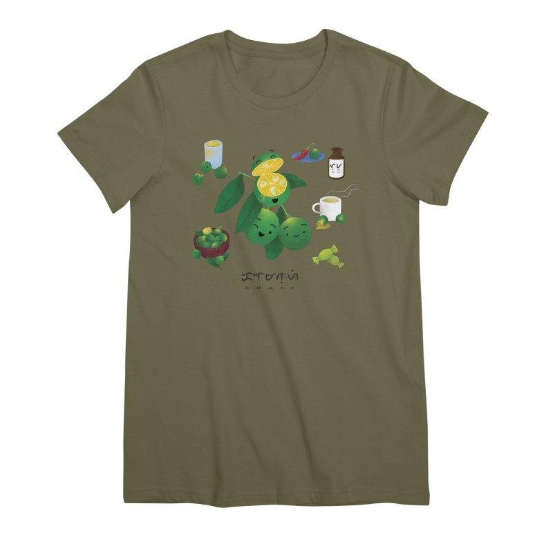 Calamansi Women's Premium T-Shirt by Filipeanut Sari-Sari Store