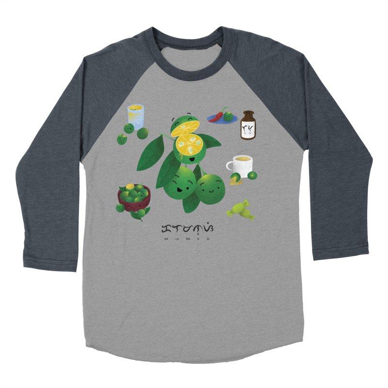 Calamansi Women's Baseball Triblend Longsleeve T-Shirt by Filipeanut Sari-Sari Store