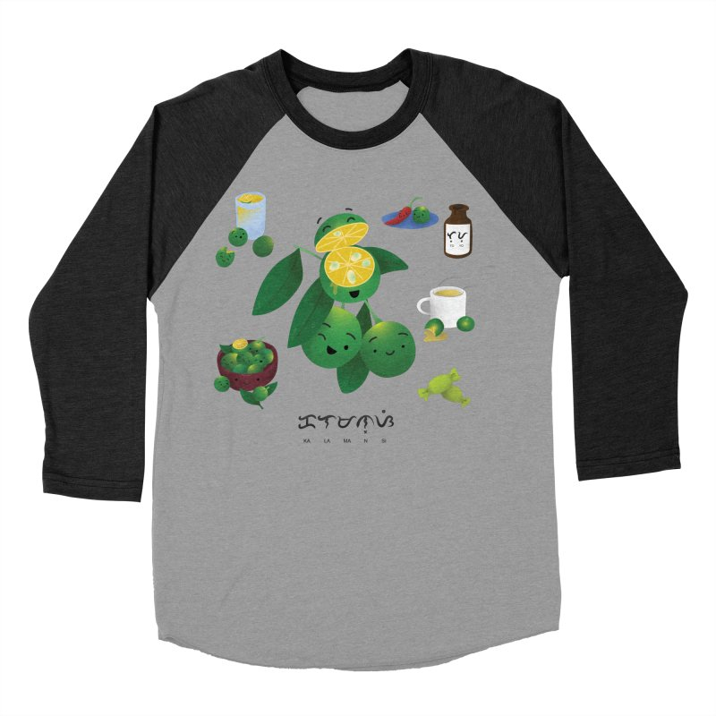 Calamansi Men's Baseball Triblend Longsleeve T-Shirt by Filipeanut Sari-Sari Store