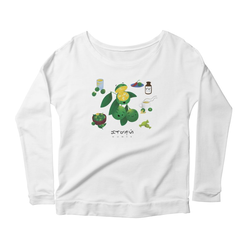Calamansi Women's Scoop Neck Longsleeve T-Shirt by Filipeanut Sari-Sari Store