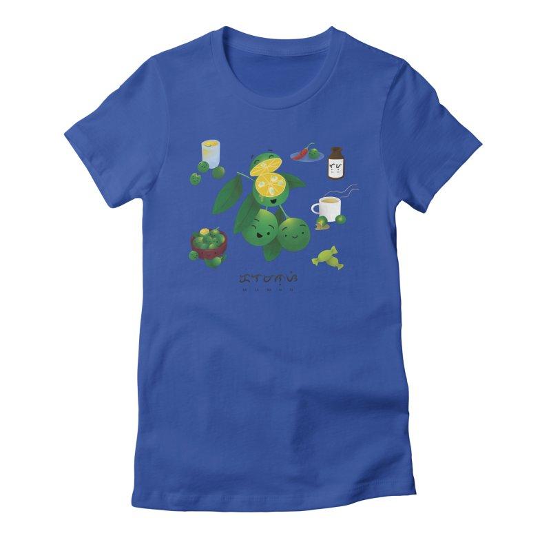 Calamansi Women's Fitted T-Shirt by Filipeanut Sari-Sari Store