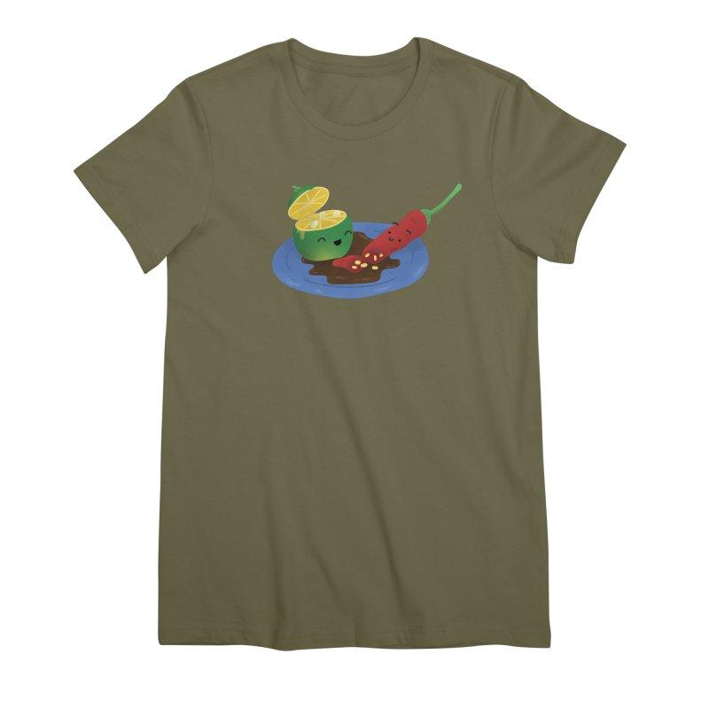 Calamansi & Sili Women's Premium T-Shirt by Filipeanut Sari-Sari Store
