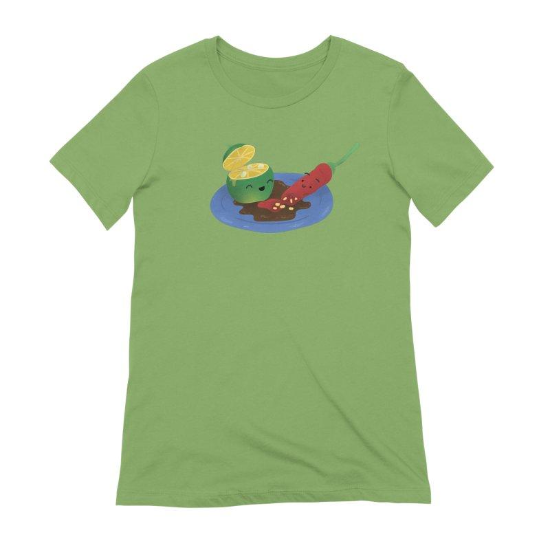 Calamansi & Sili Women's Extra Soft T-Shirt by Filipeanut Sari-Sari Store