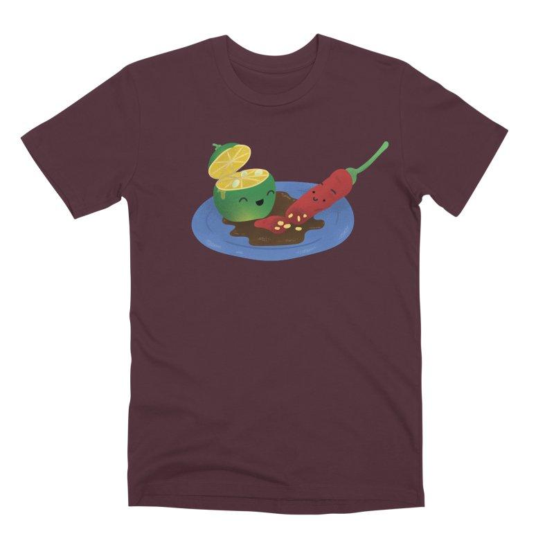 Calamansi & Sili Men's Premium T-Shirt by Filipeanut Sari-Sari Store