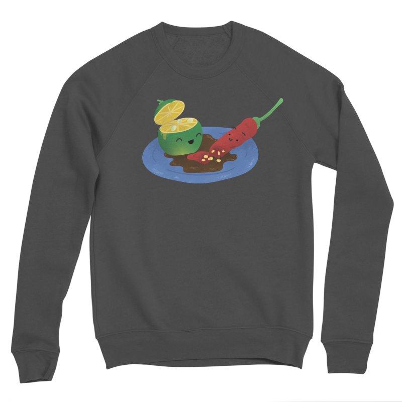 Calamansi & Sili Men's Sponge Fleece Sweatshirt by Filipeanut Sari-Sari Store