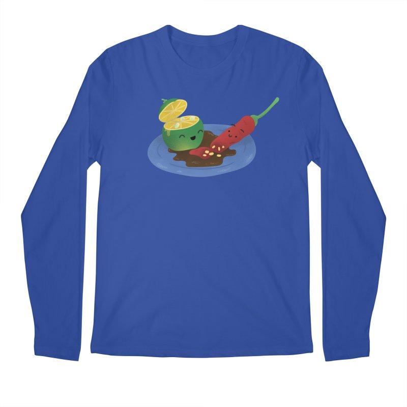 Calamansi & Sili Men's Longsleeve T-Shirt by Filipeanut Sari-Sari Store
