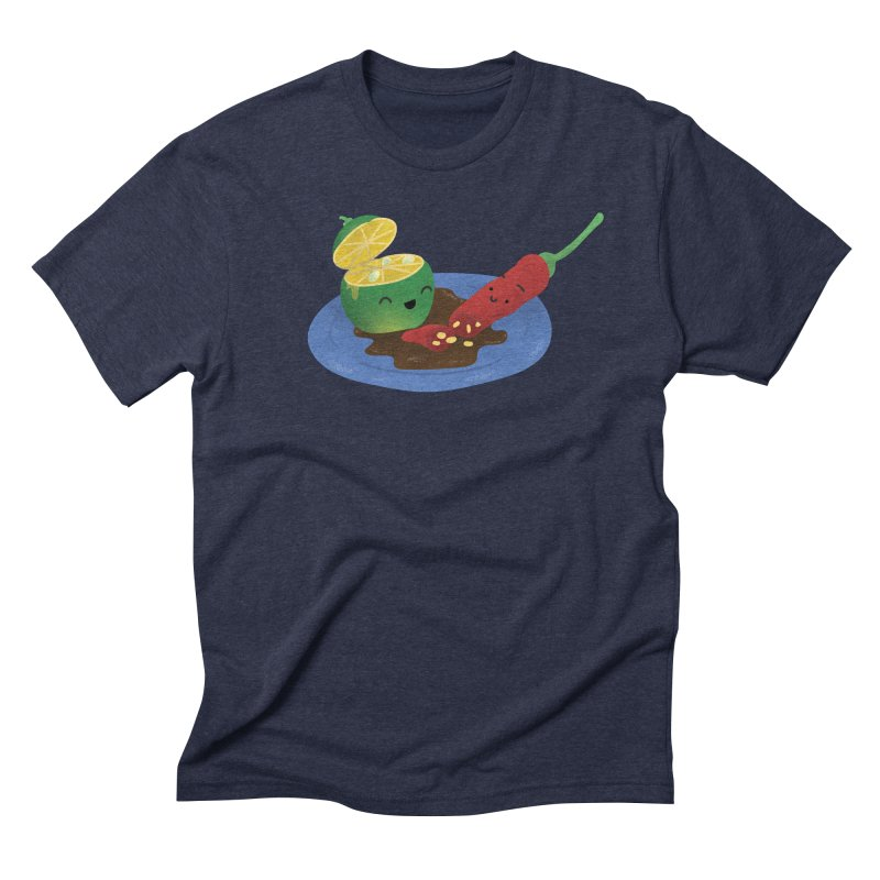 Calamansi & Sili Men's Triblend T-Shirt by Filipeanut Sari-Sari Store