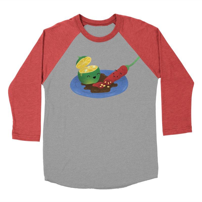 Calamansi & Sili Men's Baseball Triblend Longsleeve T-Shirt by Filipeanut Sari-Sari Store