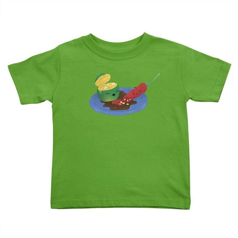 Calamansi & Sili Kids Toddler T-Shirt by Filipeanut Sari-Sari Store