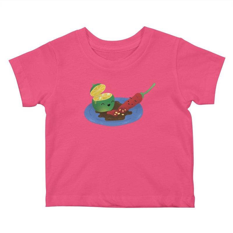 Calamansi & Sili Kids Baby T-Shirt by Filipeanut Sari-Sari Store