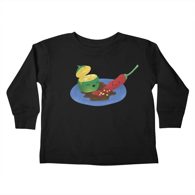 Calamansi & Sili Kids Toddler Longsleeve T-Shirt by Filipeanut Sari-Sari Store