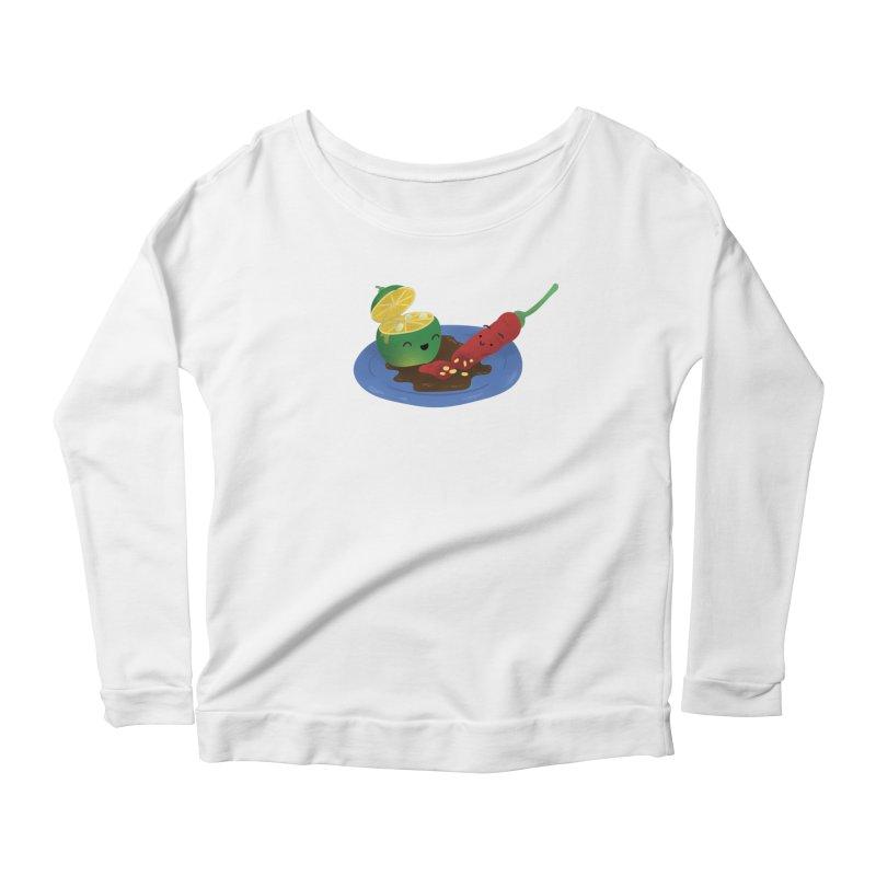 Calamansi & Sili Women's Scoop Neck Longsleeve T-Shirt by Filipeanut Sari-Sari Store