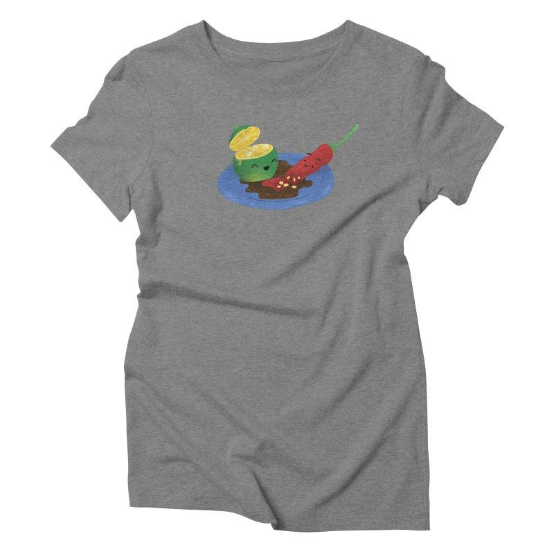 Calamansi & Sili Women's Triblend T-Shirt by Filipeanut Sari-Sari Store